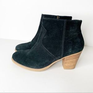 Madewell 1937 Regan Black Suede Ankle Boots